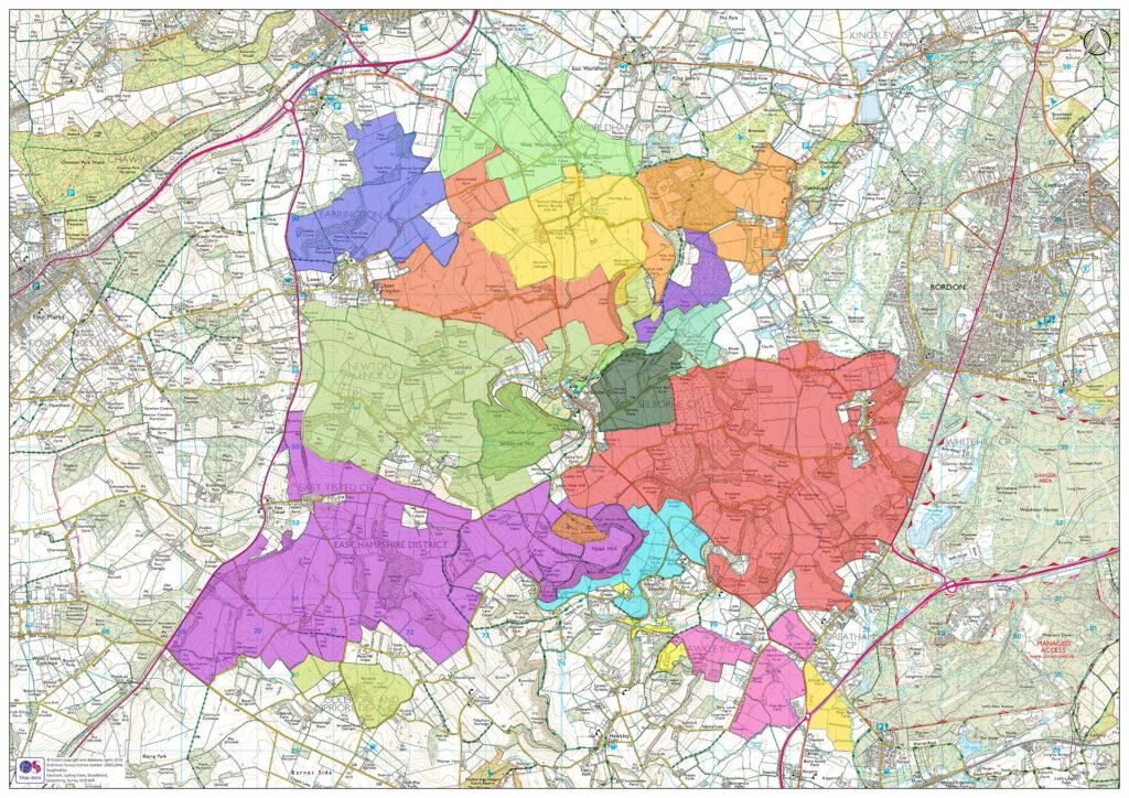 Selborne Landscape Partnership map